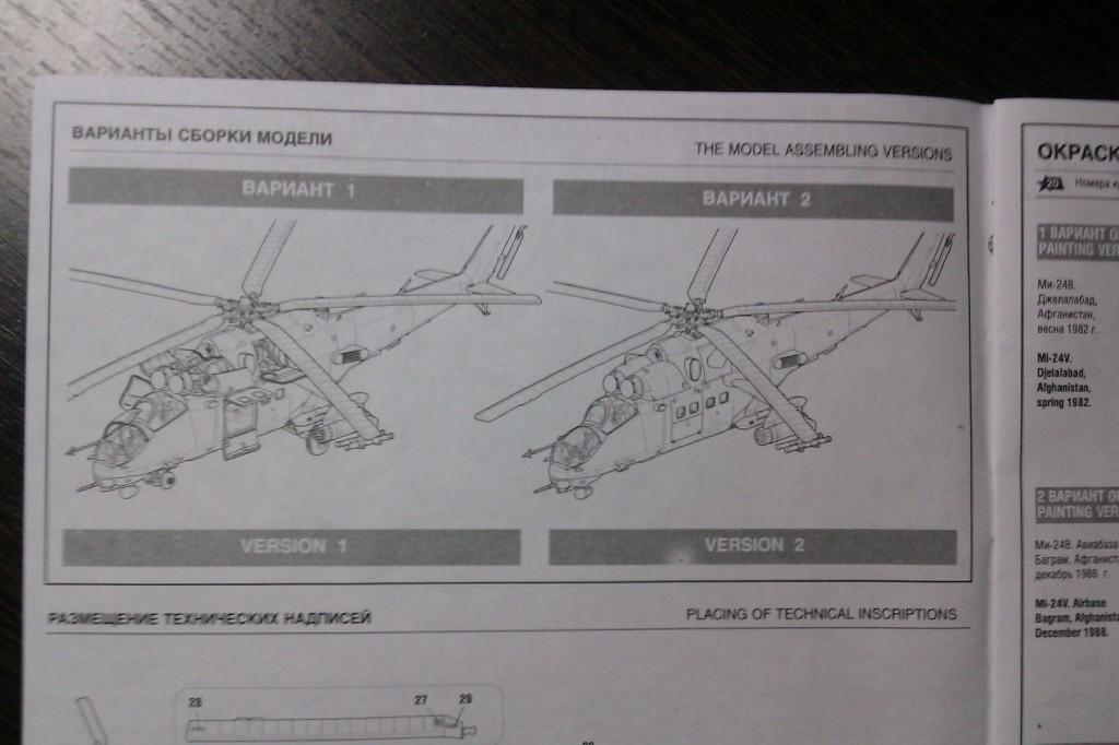 Варианты сборки МИ-24 В/ВП