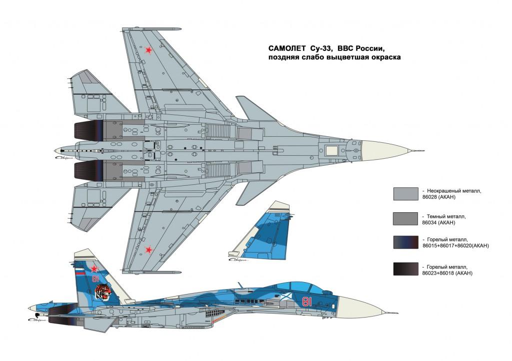 Су-33 Поздний вариант окраски