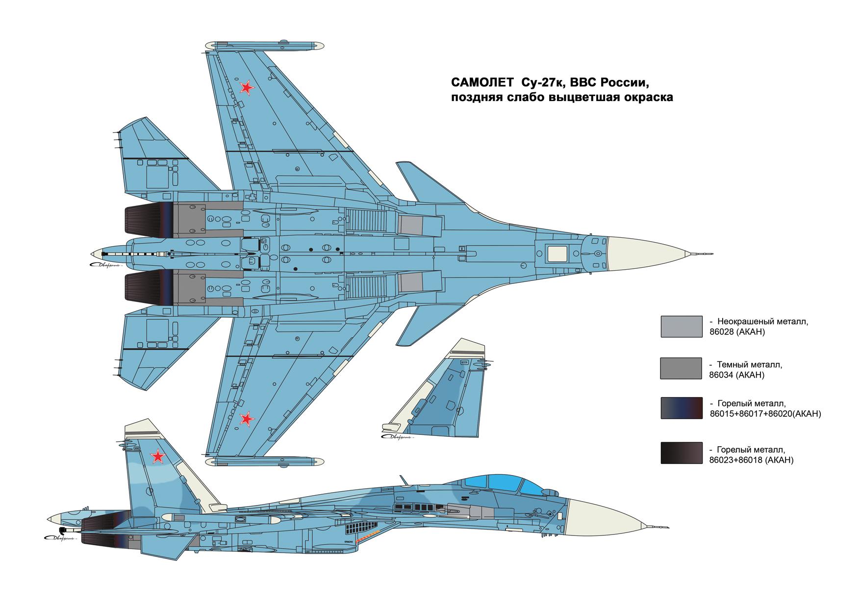 схема покраски модели самолета ан-2