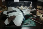 F/A 22 Raptor 1/48 от ITALERI: Шаг 3: Ох уж эта шпаклевка