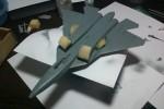 ПАК ФА Т-50: 1/72: Звезда: Шаг 1: Окрасил нижнюю плоскость корпуса планера
