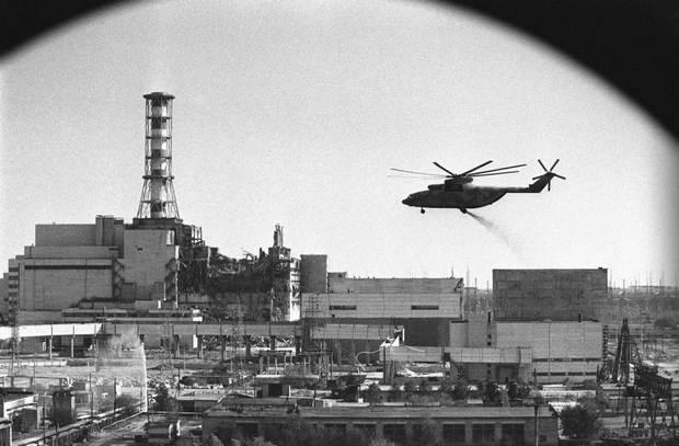 Ми-26 над Чернобылем