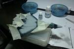 ПАК ФА Т-50: 1/72: Звезда: Шаг 3: Начал наносить камуфляжный слой 1