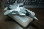 ПАК ФА Т-50: 1/72: Звезда: Шаг 4: Нанес камуфляж на верхнюю часть корпуса