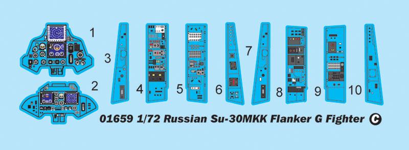 Russian Su-30MKK Flanker G: 1/72: Trumpeter: Обзор модели от Д.Игнатычева