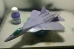 ПАК ФА Т-50: 1/72: Звезда: Шаг 6: Грунтовка и окраска в базовые цвета