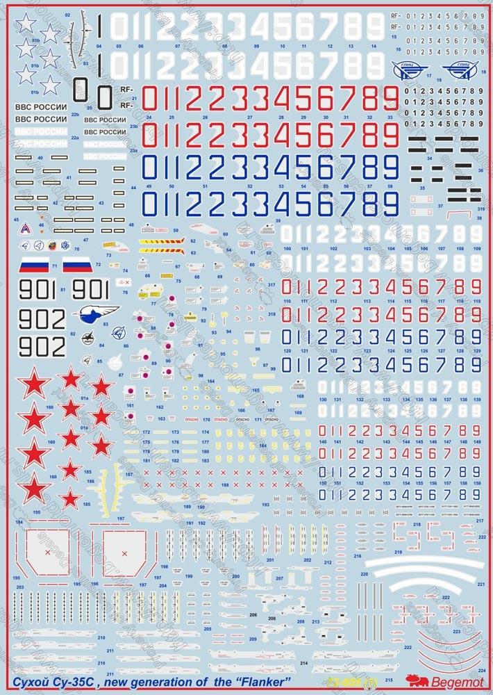 Сухой Су-35С: 1/72: Бегемот : 72-055