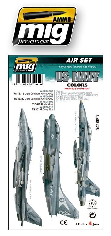 НАБОР 7201: US NAVY COLORS: AMMO: CОВРЕМЕННЫЕ ЦВЕТА АВИАЦИИ ВМС США