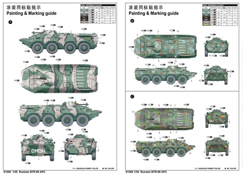 БТР Russian BTR-80 APC: 01594: 1/35: Trumpeter: