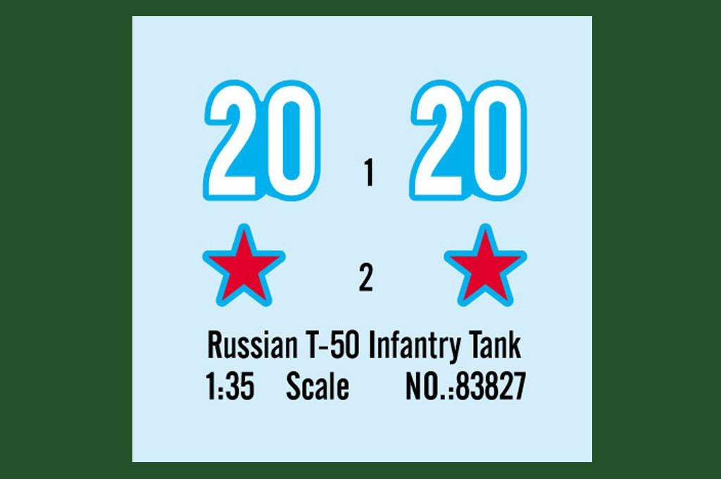 Танк Soviet T-50 Infantry Tank: 83827: 1/35: Hobby Boss: