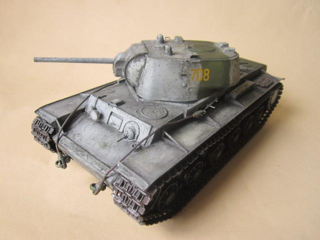 Танк Russian KV-1 M1942 Heavy Cast Turret Tank: 00359: 1/35: Trumpeter: