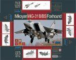 Mikoyan MiG-31B/BS Foxhound: 88008: 1/48: AMK: Еще один вариант модели Мига