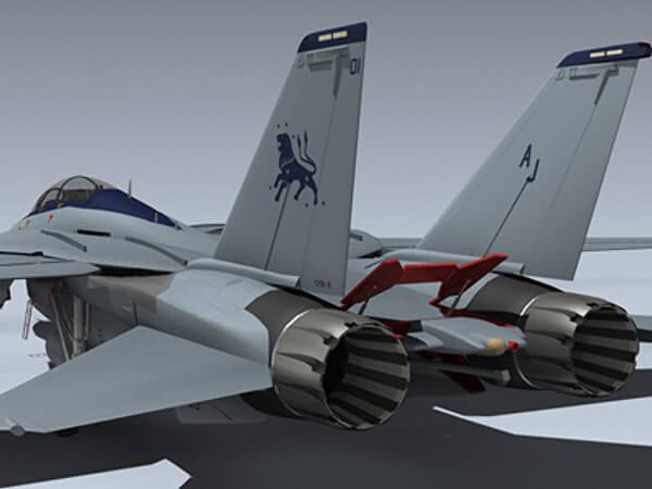 Палубный истребитель F-14 Tomcat: 3D модель
