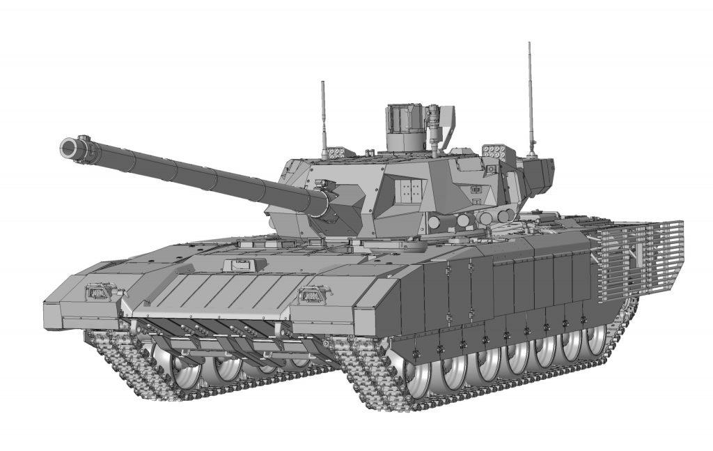 """Российский танк Т-14 """"Армата"""": 3670: 1/35: Звезда: Первые рендеры"""