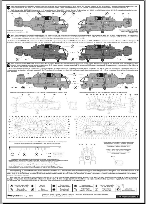 Камов Ка-27/28 Helix: 1/48: Бегемот: 48-038: Обзор декали для вертолетов Ка-27