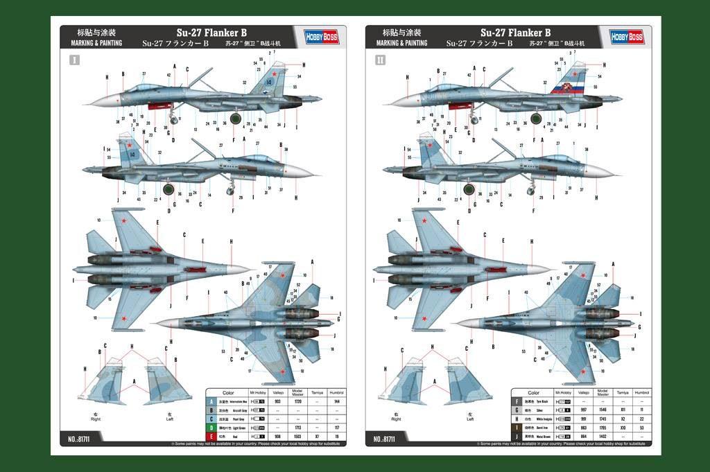 Su-27 Flanker B: 81711: 1/48: Hobby Boss: