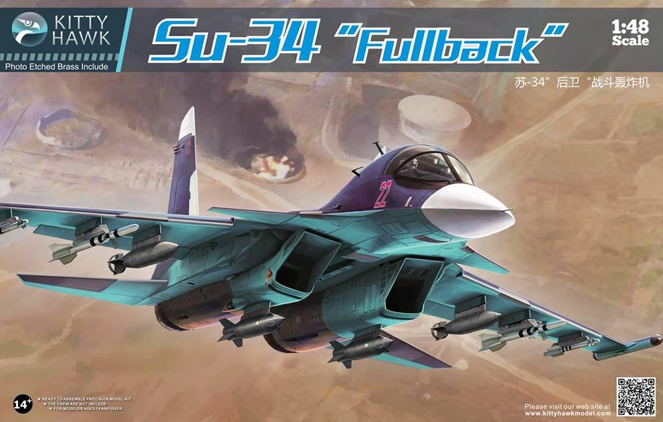 """Фронтовой бомбардировщик Su-34 """"Fullback"""": 1/48: Kitty Hawk: Первый взгляд"""