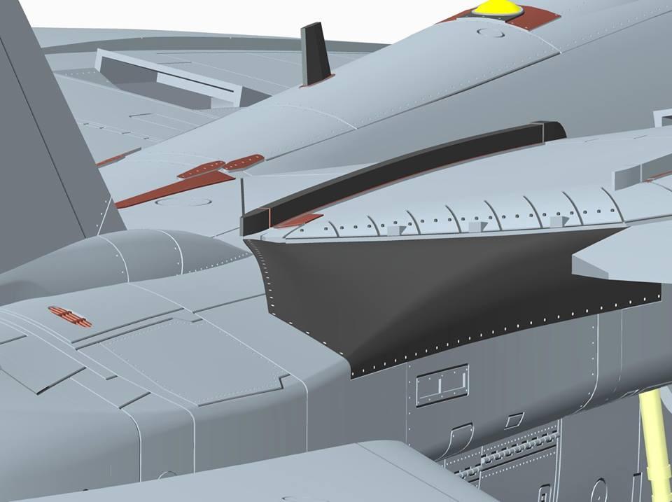 Перехватчик F-14D Super Tomcat: 88007: 1/48: AMK: Начало дизайна модели
