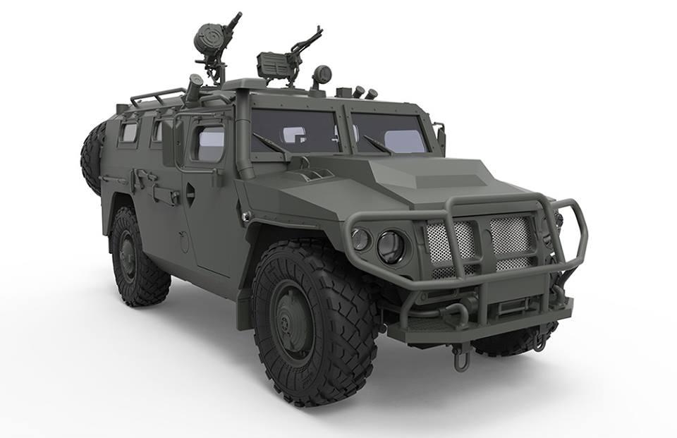 """Бронеавтомобиль Газ-233115 """"Тигр-М"""": VS-008: 1/35: MENG: Проектируемая модель"""