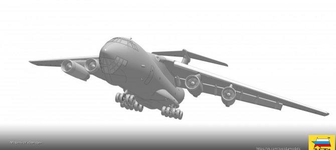Военно-транспортный самолет Ил-76 МД: 7011: 1/144: Звезда: Первые рендеры