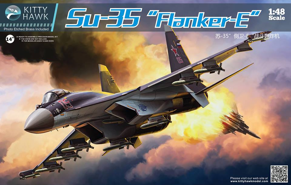 Su-35 Flanker-E: KH80142: 1/48: Kitty Hawk: