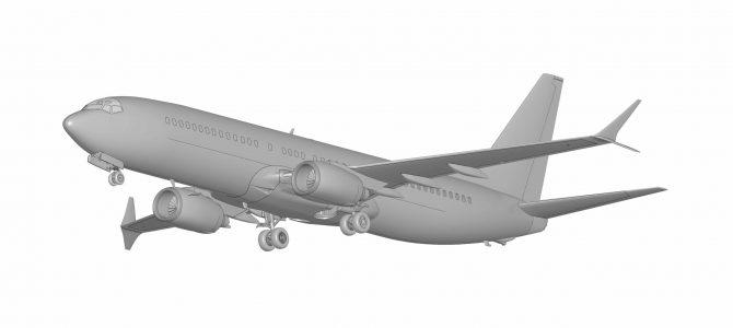 Пассажирский авиалайнер Боинг-737-800: 7019: 1/144: Звезда: Первые рендеры