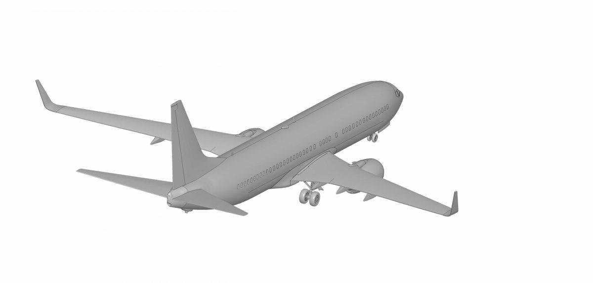 Пассажирский авиалайнер Боинг-737-800: 7019: 1/144: Звезда