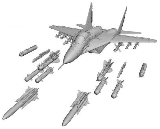 Российский истребитель Миг-29 СМТ: 7309: 1/72: Звезда: Рендеры
