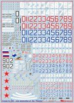Сухой Су-35С: 1/48: Бегемот: 48-039: Обзор декали для истребителя Су-35С
