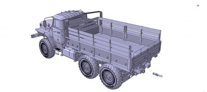 Армейский грузовик Урал-4320: 3654: 1/35: Звезда: Первые рендеры