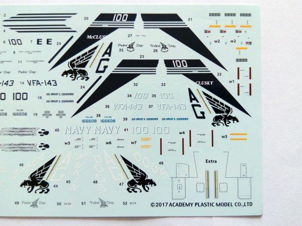 USN F/A-18E VFA-143 «Pukin Dogs»: 1/72: Academy: Обзор коробки