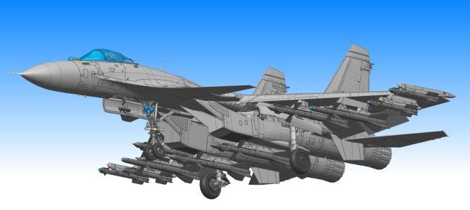Сухой Су-35С&Су-33: 1/48: G.W.H.: Первые рендеры