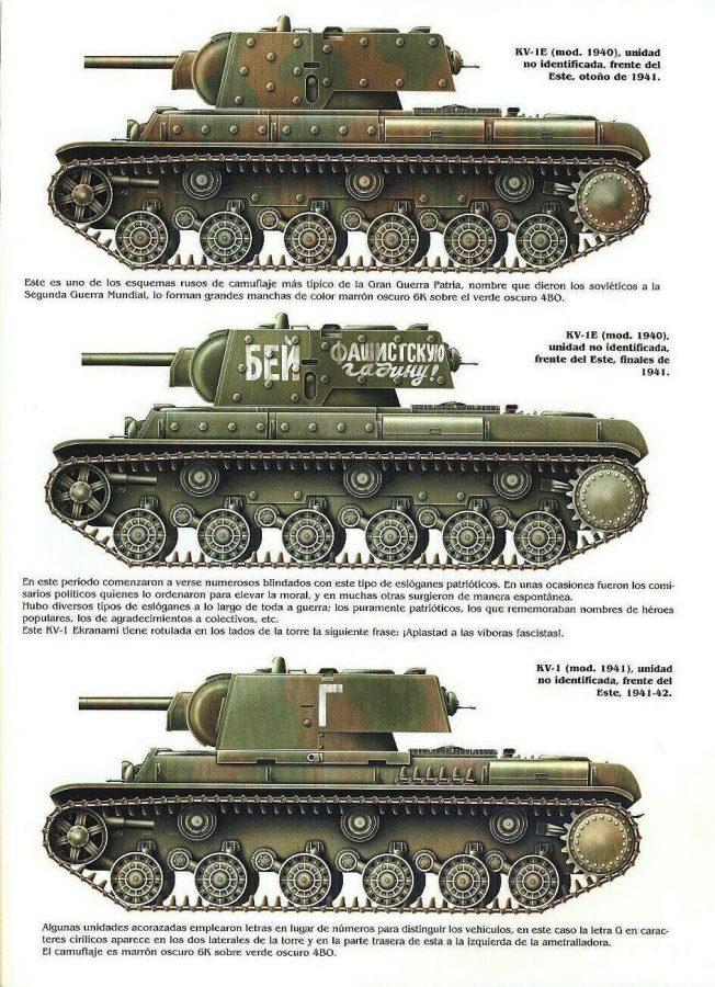 Танк КВ-1: Боковики