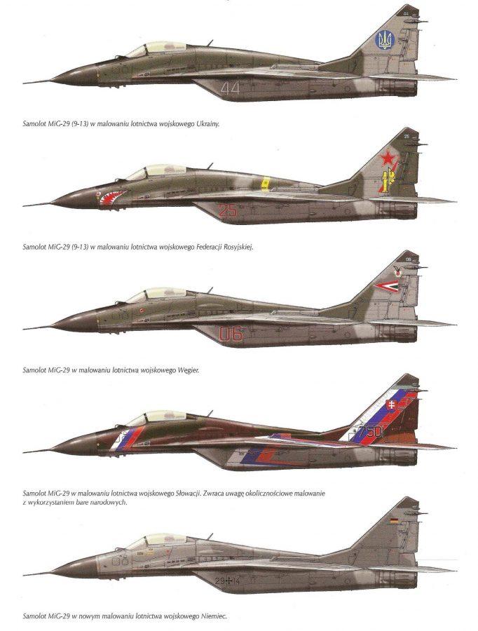 Истребитель Миг-29: Боковики
