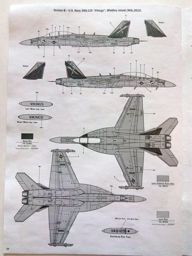 Boeing EA-18G Growler: 2716: 1/48: Italeri: Обзор коробки