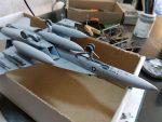 F/A-18E VFA-143 «Pukin Dogs»: 1/72: Academy: Сборка: Шаг 2