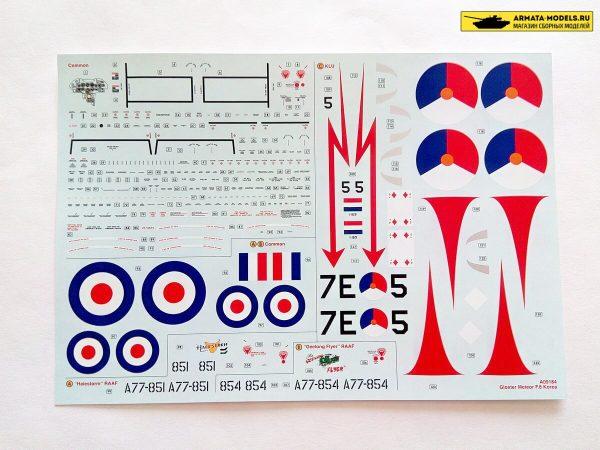 Gloster Meteor F8 Korea: А09184: 1/48: Airfix: Обзор коробки