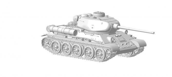 Советский средний танк Т-34/85: 3687: 1/35: Звезда: Первые рендеры
