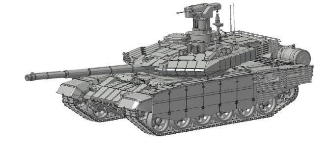 Российский ОБТ Т-90МС: 3675: 1/35: Звезда: Первые рендеры