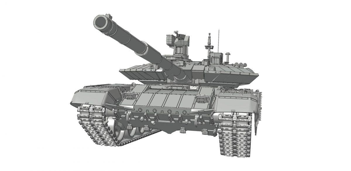 Российский основной боевой танк Т-90МС: 3675: 1/35: Звезда: Первые рендеры