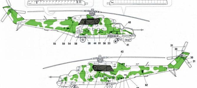 Камуфляжные маски для Ми-24П от Звезды: Сирия, б/н 34