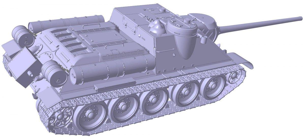 Советский истребитель танков Су-100: 3688: 1/35: Звезда: Первые рендеры