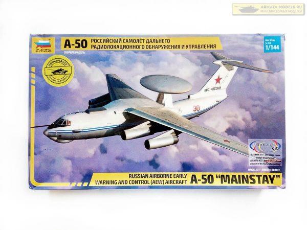 Российский самолет ДРЛОУ А-50: 7024: 1/144: Звезда: Обзор коробки
