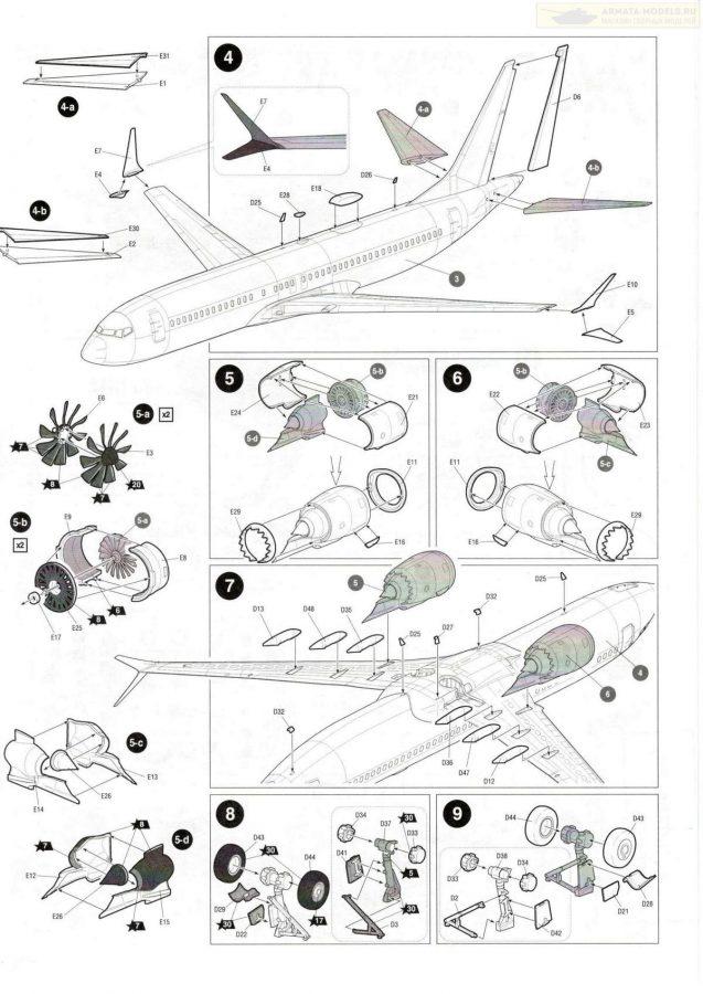 Пассажирский авиалайнер Боинг 737-8 MAX: 7026: 1/144: Звезда: Обзор коробки