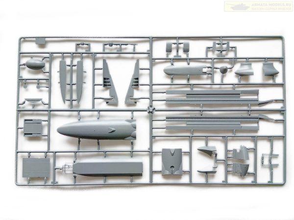 Российский транспортно-десантный самолет ИЛ-76ТД МЧС России: 7029: 1/144: Звезда: Обзор коробки