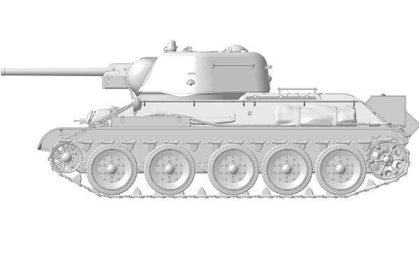 Советский средний танк Т-34/76 1943 УЗТМ: 3689: 1/35: Звезда: Первые рендеры