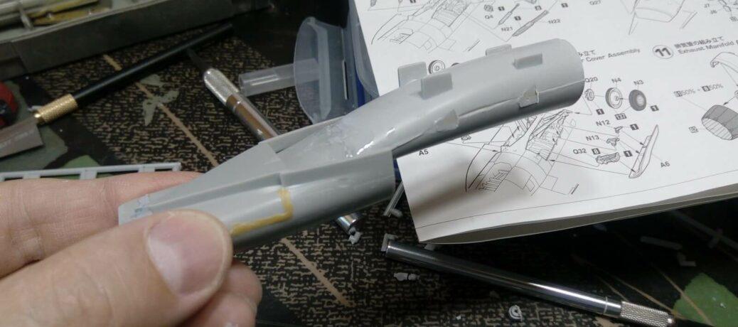 Mitsubishi F-2B: PT29: 1/48: Hasegawa: Сборка: Шаг 1