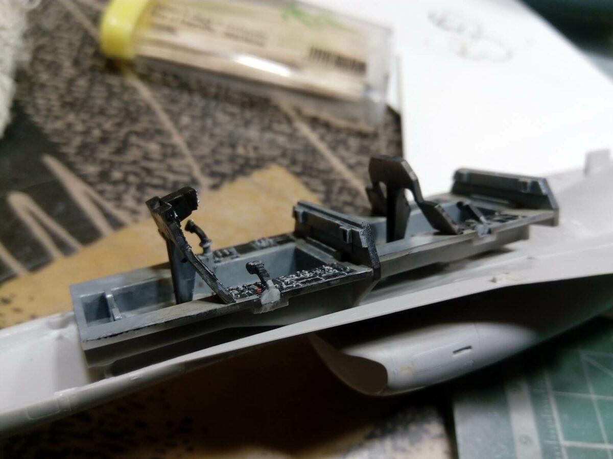 Mitsubishi F-2B: PT29: 1/48: Hasegawa: Сборка: Шаг 1 Игнатычев Дмитрий Globaltao