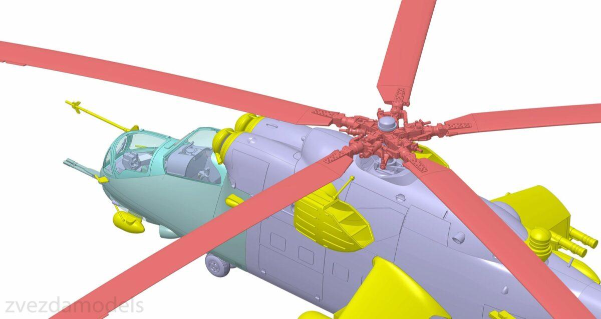 Советский ударный вертолет Ми-24В/ВП: 4823: 1/48: Звезда: Первые рендеры