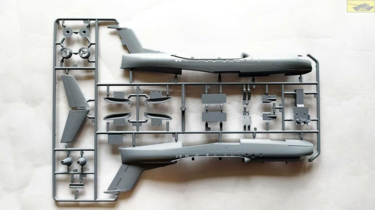 Российский самолет-амфибия Бе-200ЧС 7034: 1/144: Звезда: Обзор коробки